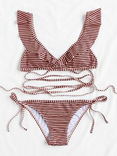 Shop Striped Print Strappy Bikini Set online. SheIn offers Striped Print Strappy Bikini Set & more to fit your fashionable needs.