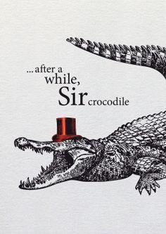 BUTT Papierkram - After a while, Sir crocodile