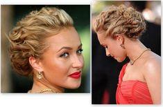 Idée coiffure : Chignon torsadé sur cheveux frisés