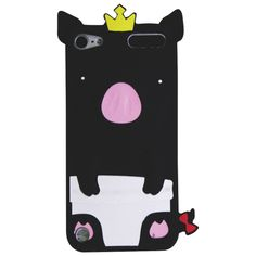 Exian iPod touch 5th Generation Pig Case (5T019) - Black 							 							 							- Online Only