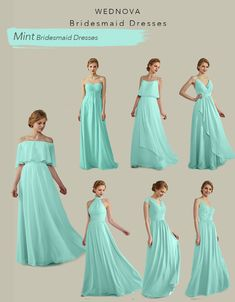 Off shoulder chiffon mint bridemaid dresses with spaghetti straps halter dress a-line long Ruffle dress for wedding boho bridemaid dress Cheap Bridesmaid Dresses Online, Satin Bridesmaid Dresses, Wedding Dresses, Wedding Bridesmaids, Party Dresses, Color Menta, Braut Make-up, Couture, Nice Dresses