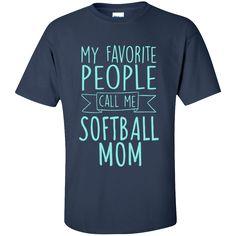 My Favorite People Call Me Softball Mom Cotton T-Shirt