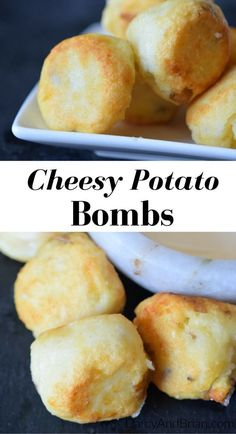 Tired of boring mashed potatoes? Kick dinner up a notch with this easy cheesy potato bombs recipe. These potato balls also make a great appetizer!
