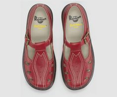 My lovely red Doc Martin Sandals. Dr. Martens, Red Shoes, Me Too Shoes, Dr Martens Sandals, Dr Martens Outfit, Plantar Fasciitis Shoes, Dr Martens Store, Shoe Boots, Shoes Sandals