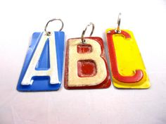 key chains made from license plates: very cool