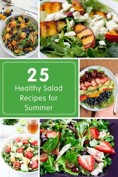 25 Healthy Salad Recipes for Summer - light and refreshing recipes to keep things fresh this summer! @produceforkids
