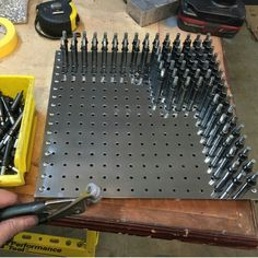 Good way to store your Cleco pins to keep them together by size.