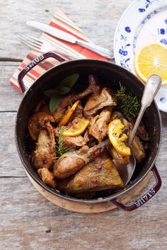 My family orange and bacon guinea fowl - Juls' Kitchen