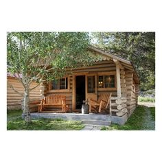 Silver Gate Cabins ❤ liked on Polyvore featuring houses