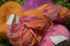 Orange combination in Magic Ball mohair from Adele's mohair