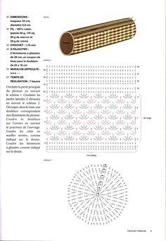 créations crochet: trousse a maquillage ou crayon : )
