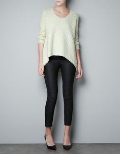 SWEATER WITH ASYMMETRIC HEM - Knitwear - Woman - ZARA United States
