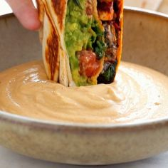 Crunchwrap Supreme This vegan crunchwrap is INSANE! Stuff this bad boy with whatever you like - I made it with sofritas tofu and cashew queso - and wrap it up, fry, and devour! Favorite vegan recipe to date. Mexican Food Recipes, Whole Food Recipes, Cooking Recipes, Healthy Recipes, Crockpot Recipes, Vegetarian Recipes Videos, Vegan Lunch Recipes, Chicken Recipes, Vegetarian Meals