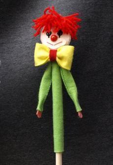 Csaláné Bohli Cecília (bábkészítő) - Fakanál báb - Bohóc, wooden spoon puppet, clown
