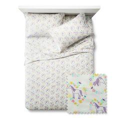 Main Mare Sheet Set - Queen - 4 pc - Purple - Pillowfort™ : Target