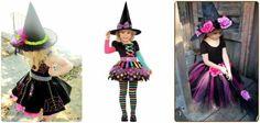 modelos coloridos de fantasia bruxa infantil