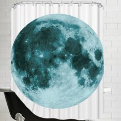 The Glass Mountain Moon by The Glass Mountain Shower Curtain