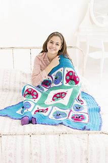 Many cultures throughout the world believe that ladybugs are lucky. Beliefs include financial luck, illness cure, granting of wishes and even luck in love. We can't guarantee good luck, but whoever gets to use this bright crocheted throw will surely feel lucky.