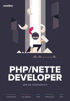 Hiring Posters by Pavel Novák, via Behance