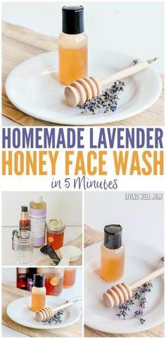 Homemade Lavender Honey Face Wash in Just 5 Minutes #FaceCreamForWrinkles Homemade Facials, Homemade Skin Care, Homemade Scrub, Homemade Products, Homemade Moisturizer, Homemade Beauty, Natural Hair Mask, Natural Skin Care, Natural Beauty