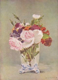 Still life with flowers - Edouard Manet - 1880 - oil