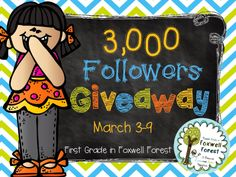 3,000 Follower GIVEAWAY!!! - First Grade in Foxwell Forest
