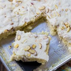 White Texas Sheet Cake -- Part of The Very Best Sheet Cake