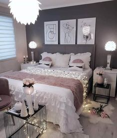 58 Popular and Modern Small Bedroom Design Ideas Part bedroom ideas; bedroom ideas for small room; Bedroom Decor For Teen Girls, Room Ideas Bedroom, Small Room Bedroom, Home Decor Bedroom, Small Rooms, Small Room Layouts, Nice Rooms, Teen Bedrooms, Master Bedrooms