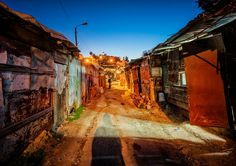 Beautiful slum area in Morocco