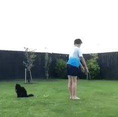 When you have a good helper #guy #somersault #cat