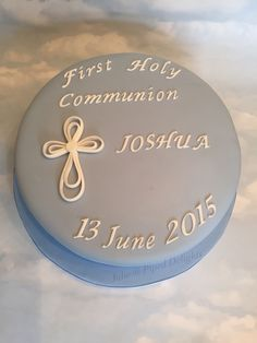 First Holy Communion Boys Cake by Julie @ Piped Delights