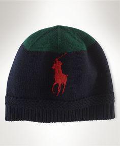 Polo Ralph Lauren Hat, Knit Wool Cap - Mens Belts, Wallets & Accessories - Macy's