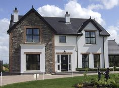 Stone facing and stone cladding Ireland, Century Stone Ireland - Stone Cladding (Exteriors) Dream House Exterior, Exterior House Colors, Dream House Plans, Exterior Design, House Exteriors, Stone Front House, House Front, Style At Home, Stone Cladding Exterior