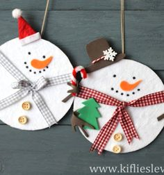 Adorable snowmen from a cd and felt - recycling craft // Aranyos hóemberek CD lemezekből és filcből - kreatív újrahasznosítás // Mindy - craft tutorial collection