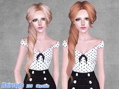 Tornado side ponytail hairstyle 239 by Skysims by The Sims Resource for Sims 3 - Sims Hairs - http://simshairs.com/tornado-side-ponytail-hairstyle-239-by-skysims-by-the-sims-resource/