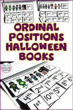 Students will LOVE to work on ordinal position concepts with these fun Halloween interactive books. There are 2 versions of the same included with different levels of prompts. These books are already adapted for special education teachers, students with autism, hands on learners, work tasks and more!