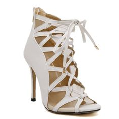 Fashionable Peep Toe and Mesh Design Sandals For Women