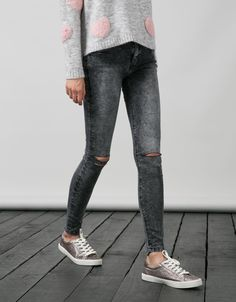 BSK super skinny cut jeans. Discover this and many more items in Bershka with new products every week