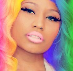Nicki minaj rainbow hair <3