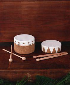 DIY Toy Cork Drums @Matt Valk Chuah Merrythought