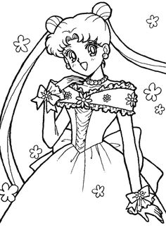 Pudgy Bunny's Sailor Moon Coloring Pages