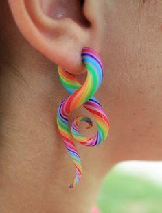 Technicolor FAKERS Polýpous Plugs. $23.00, via Etsy.