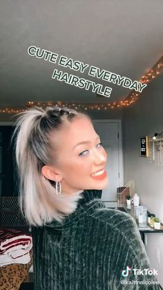 Cute Hairstyles For Short Hair, Creative Hairstyles, Everyday Hairstyles, Scarf Hairstyles, Hairstyles Haircuts, Medium Hair Styles, Curly Hair Styles, Aesthetic Hair, Hair Videos