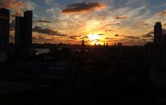 Sunrise over Miami, Florida