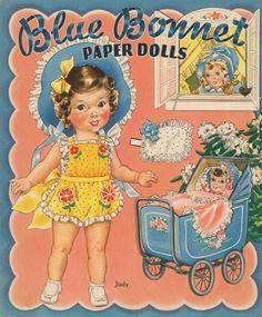 Blue Bonnet Paper Doll Judy 2 of 9