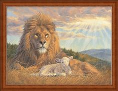 Lion And Lamb by Lucie Bilodeau