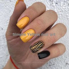 Charming Spring Nail Art Designs Ideas To Try In 2019 - Charming Spring. - Charming Spring Nail Art Designs Ideas To Try In 2019 – Charming Spring Nail Art Designs - Spring Nail Art, Nail Designs Spring, Spring Nails, Summer Nails, Yellow Nails Design, Yellow Nail Art, French Nails, French Pedicure, Square Gel Nails