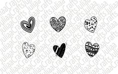 Hearts svg - Valentine svg - Valentines heart svg - Heart clipart - Love svg - Heart bundle - svg files - for cricut - for silhouette - Valentine Heart, Valentines, Heart Clip Art, Silhouette Vector, Svg Files For Cricut, Hearts, This Or That Questions, Shop, Etsy