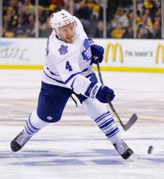 Cody Franson before scoring his goal in the period in Game Seven May 2013 in Boston. Photo by Jared Wickerham/Getty Images Maple Leafs Hockey, Nhl Players, Nfl Fans, Toronto Maple Leafs, In Boston, My Boys, Sporty, Game, Period