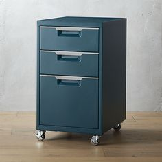 T$519 PS teal 3-drawer filing cabinet